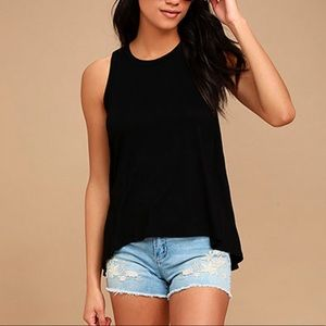 LULUS 'impassioned' black tank top